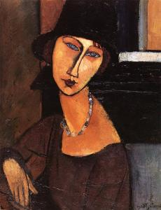 Jeanne Hebuterne with Hat and Necklace- Amedeo Modigliani
