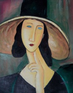Portrait of Woman in Hat - Great Artist Amedeo Modigliani