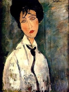 Amedeo Modigliani painting: Woman with Black Cravat