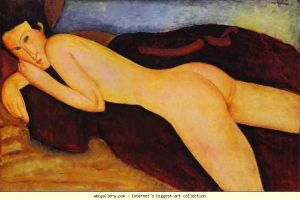 Reclining Nude from the Back- Amedeo Modigliani