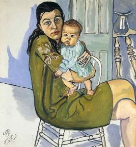 Nancy And Olivia- Alice Neel