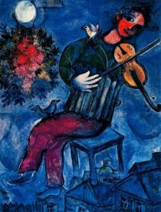 Blue Violinist‏ by Marc Chagall