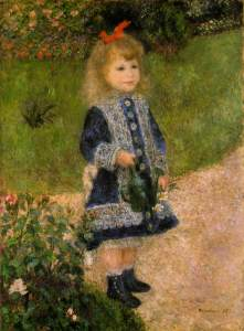 A Girl with a Watering Can, 1876- Pierre-Auguste Renoir